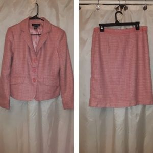 New York and Company Pink Tweed Suit Size 12